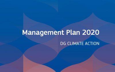 European Commission. Management Plan 2020. DG CLIMATE ACTION
