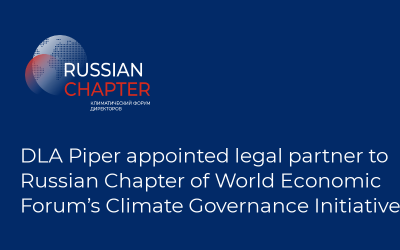 DLA Piper appointed legal partner to Russian Chapter of World Economic Forum's Climate Governance Initiative